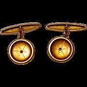 Antique 18K Gold & Diamond Cufflinks