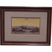Beautiful Indian Village Painting Signed Guy Rowbury