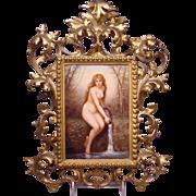 Magnificent Antique KPM Porcelain Plaque Nude Water Jug