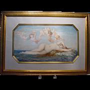 Delphine de Cool 1872 Painted Porcelain Venus on Waves