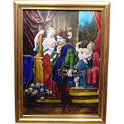18th Cent French Enamel Artist With 2 Models H. Doublet