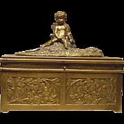 Mechanical Bergman Vienna Bronze Erotica Cherub Box