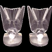 Lalique Swallow Hirondelles Book Ends