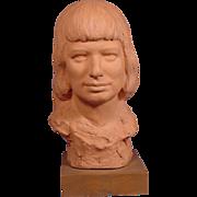 Robert Merrell Gage Bust Artist's Granddaughter Shirley