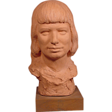 Robert Merrell Gage Bust Artist's Granddaughter Shirley