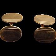 Antique Art Deco Signed & Marked 14k Gold Cufflinks