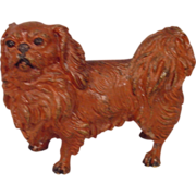 Rare Antique Pekingese Cold Painted Vienna Bronze Dog