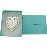 Sterling Silver Heart Shaped Bookmark Signed Tiffany & Co 925 Sterling