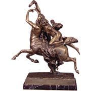 Superb Centaur Nessus & Deianeira Antique Gilt Bronze Signed J. LeDuc (1848-1918)