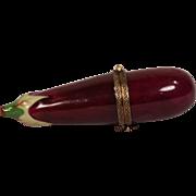 Vintage Hand Painted Limoge Porcelain Eggplant Box