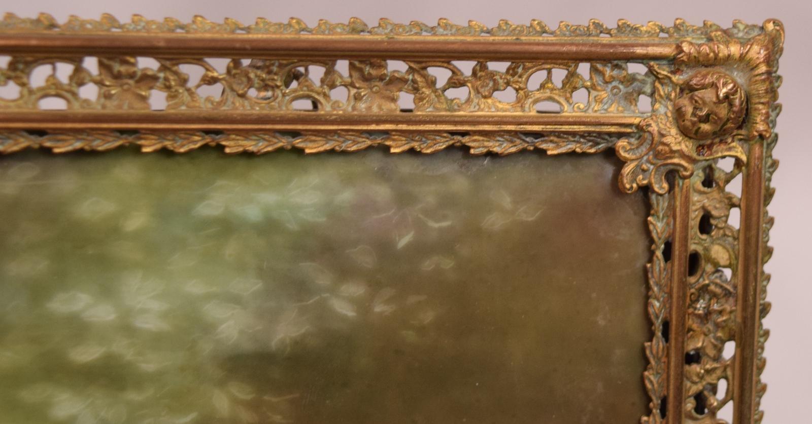 Gorgeous Semi Nude Antique Painting On Porcelain Plaque -5662