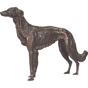 Beautifully Sculptured Bronze Borzoi Russian Wolfhound