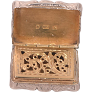 Antique Sterling Silver Vinaigrette Birmingham Edward Smith 1850
