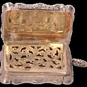 Antique Sterling Silver Vinaigrette Birmingham 1853 George Unite