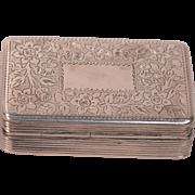 Antique Sterling Georgian Silver Vinaigrette Box Thomas Shaw Birmingham 1834