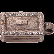 Antique Georgian Sterling Silver Vinaigrette Birmingham Thomas Shaw 1828