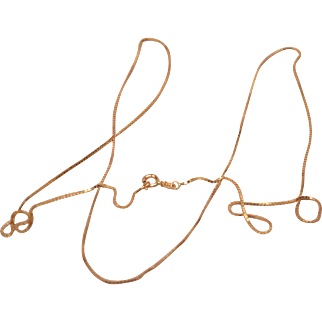 Marked 14k Malta Long Gold Chain 30 Inches Weight 4.7 Grams
