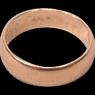 Designer Marked JLC 14k Gold Wedding Band Size 5 Weight 3 grams
