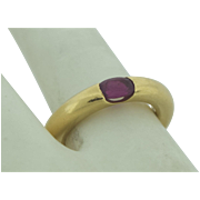 Vintage Signed Cartier 18k Gold & Ruby Ring Signed Cartier & Numbered