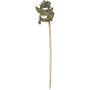 Antique Marked 14k Gold Griffin Stick Pin