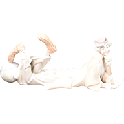 "Lladro Porcelain Clown Model #4618 ""Payaso  Acostado"""