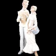 """Lladro Porcelain Figurine Model #4564 """"The Flirt"""""""