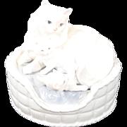 "Lladro Porcelain Figurine Model #6652 ""Kitty Care"""