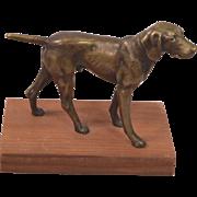 Circa 1930's Vienna Bronze Pointer Dog
