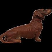 Vintage Vienna Bronze Dachshund Marked Geschutzt