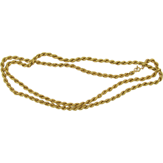 """Marked & Tested 18k Gold 32"""" Necklace 24.5 Grams"""