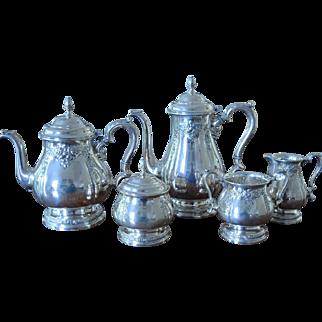 International Prelude Sterling Silver 5 Piece Tea/Coffee Service