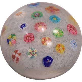 Baccarat Crystal Paper Weight Millefiori Limited Edition Number 254 Dated 1970