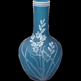 Rare Beautiful Thomas Webb & Sons 19th Century Cameo Art Glass Vase