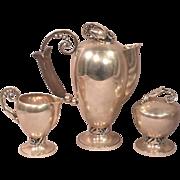 Exquisite Georg Jensen. Inc. USA Sterling SilverTea Set