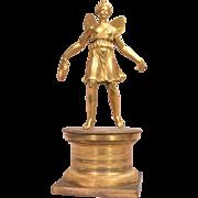 Beautiful Antique French Empire Gilt Bronze Sculpture Psyche