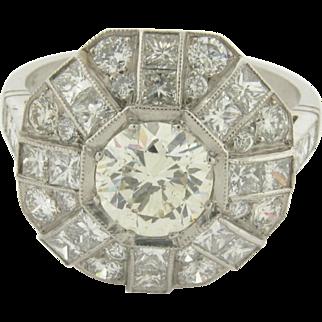 Beautiful 1-1/4 Carat Round Cut Diamond Set in Platinum Ring