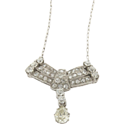 Vintage Diamonds Platinum Necklace