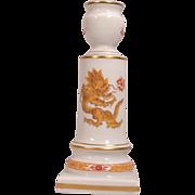 Rare Meissen Porcelain Vintage Candlestick with Dragon