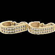14K Yellow Gold 40 Diamonds Earrings 1.60 Carats I color VS-2 Clarity