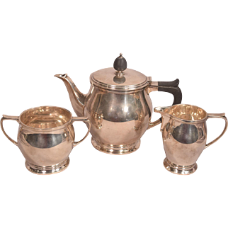 Mappin & Webb Sterling Silver Tea Set Dated 1912 Sheffield England