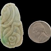 Beautiful Vintage Jade Carved Pendant