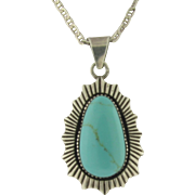 Vintage Persian Turquoise Sterling Silver Necklace