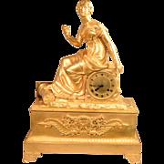 Beautiful Antique French Mercury Gilt Bronze Clock Circa 1800