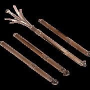 4 Antique Sterling Silver Champagne Swizzle Sticks