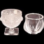 Two Lalique Vases Script Signed Lalique France