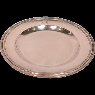 Rare Large Antique Christofle Platter With Royal Crest Signed & Numbered 1880095