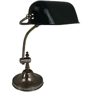 French bankers table lamp