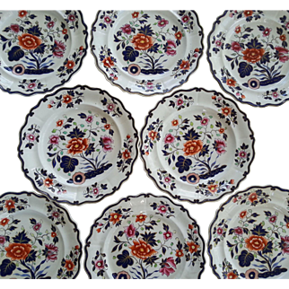 A Set of Eight W Ridgway Ironstone Dinner Plates