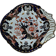 A Royal Crown Derby Shell Shaped Dish, King's pattern, Circa 1890.