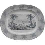 American Historic Transfer Pattern Platter Boston from Bunker Hill